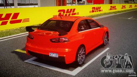 Mitsubishi Lancer Evo X 2011 for GTA 4 side view