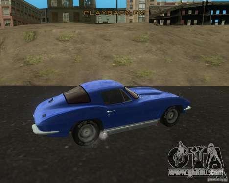Chevrolet Corvette 427 for GTA San Andreas left view