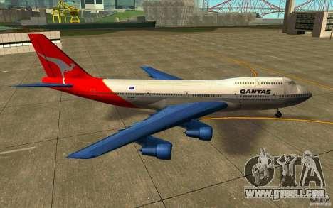 Boeing Qantas 747-400 for GTA San Andreas left view