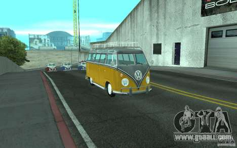 Volkswagen Transporter T1 SAMBAQ CAMPERVAN for GTA San Andreas right view