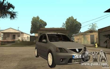 Dacia Logan Prestige 1.6 16v for GTA San Andreas back view