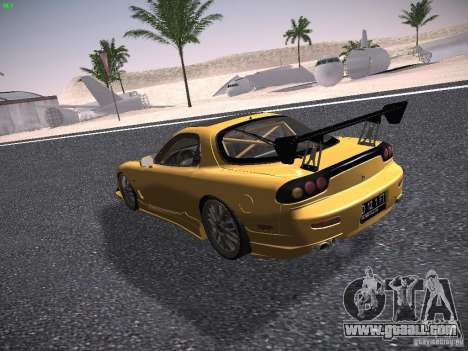 Mazda RX-7 FD3S C-West Custom for GTA San Andreas back left view