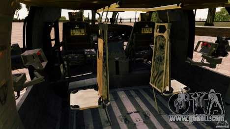 MH-60K Black Hawk for GTA 4 side view