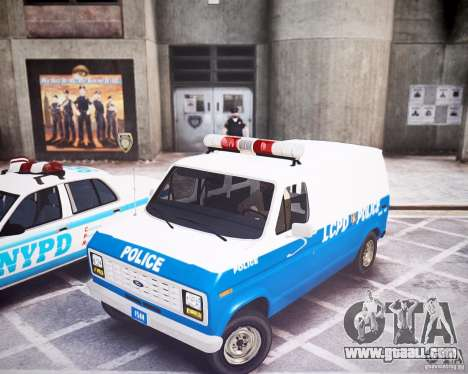 Ford E-150 LCPD for GTA 4 left view