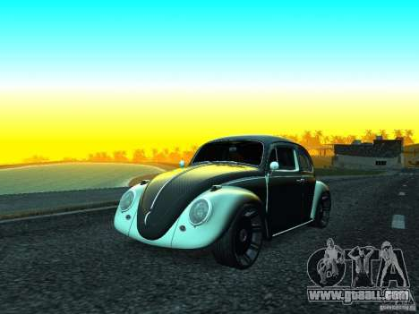Volkswagen Fusca 1966 Tuning for GTA San Andreas back left view