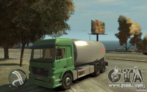 Mercedes Benz Actros Gas Tanker for GTA 4 inner view