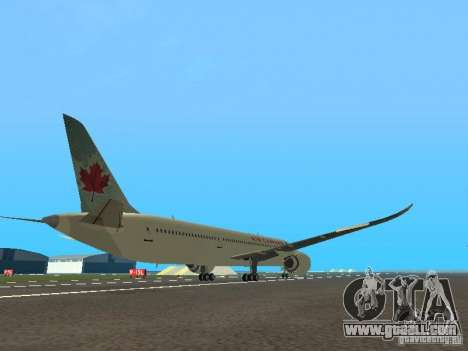 Boeing 787 Dreamliner Air Canada for GTA San Andreas right view