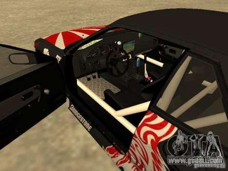Nissan Silvia S13 JDM for GTA San Andreas inner view