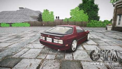 Mazda RX7 FC3S for GTA 4 inner view