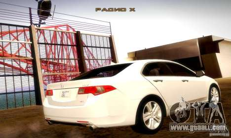 Acura TSX V6 for GTA San Andreas back left view