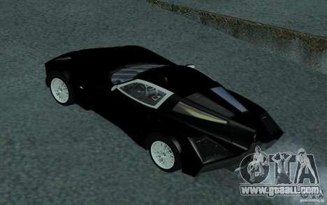 Spada Codatronca TS Concept 2008 for GTA San Andreas inner view