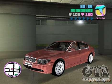 BMW 760 Li for GTA Vice City left view