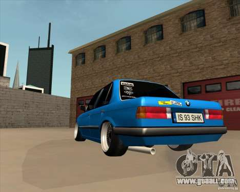 BMW E30 325e Duscchen for GTA San Andreas back left view
