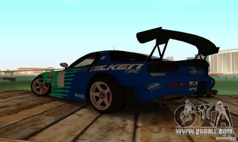 Mazda RX7 Falken edition for GTA San Andreas back left view