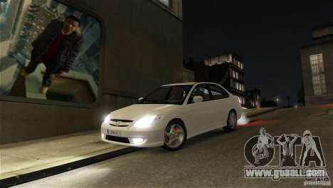 Honda Civic V-Tec for GTA 4 back view