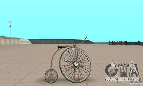 Penny-Farthing Ordinary Bicycle for GTA San Andreas back left view