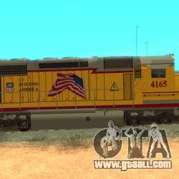 SD 40 Union Pacific Building America for GTA San Andreas back left view