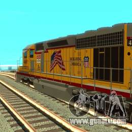 SD 40 Union Pacific Building America for GTA San Andreas right view