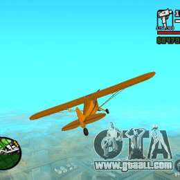 Piper J-3 Cub for GTA San Andreas right view