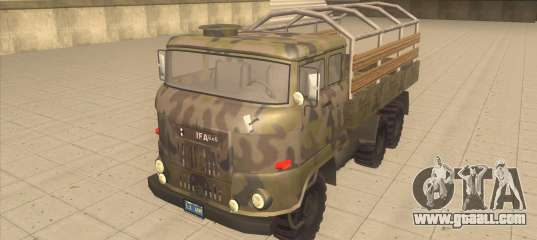 IFA 6x6 Army Truck For GTA San Andreas