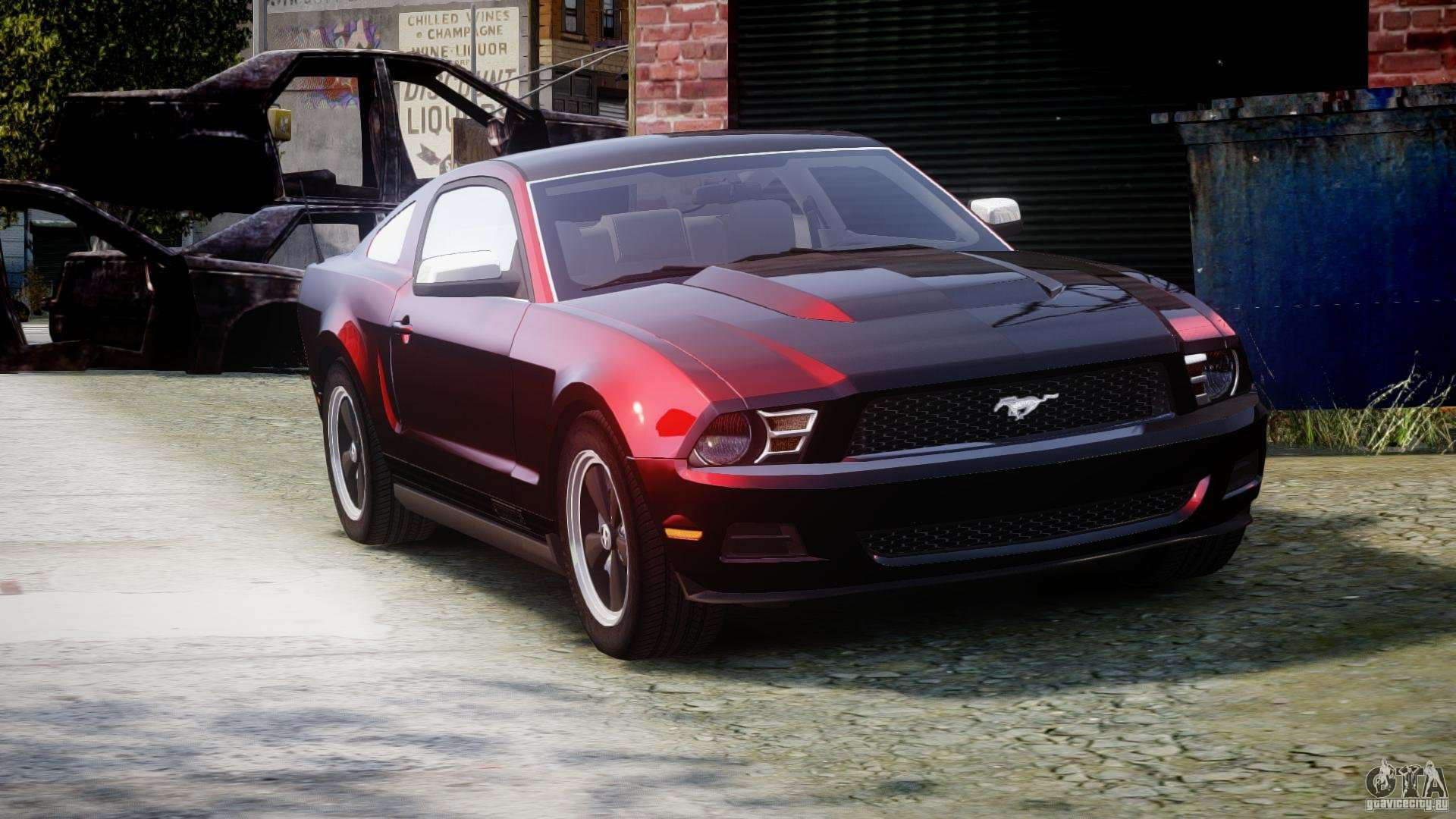 mustang v6 ford chrome gta v1 lod cars supports optimized functions basic engine game