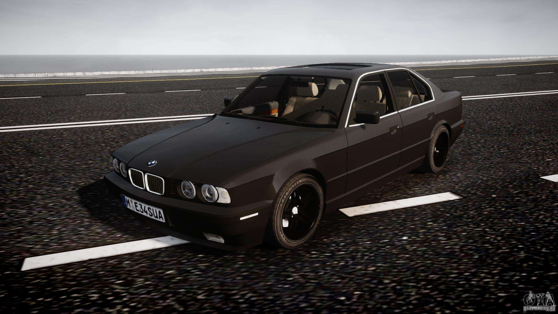 bmw 5 series e34 540i 1994 v3 0 for gta 4. Black Bedroom Furniture Sets. Home Design Ideas