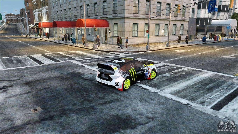 Subaru Impreza WRX STI Rallycross Monster Energy For GTA 4 Left View