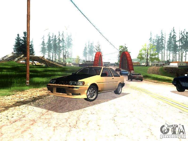 Toyota Ae86 for GTA San Andreas - GTAallcom
