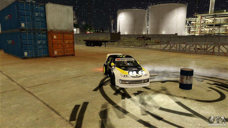 Subaru Impreza WRX STI Rallycross Monster Energy For GTA 4 Bottom View