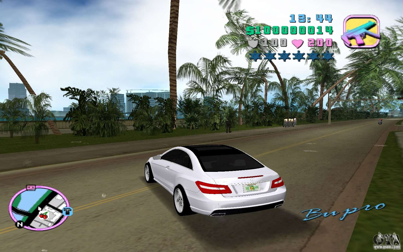 Mercedes benz e class coupe c207 for gta vice city for Mercedes benz atlantic city