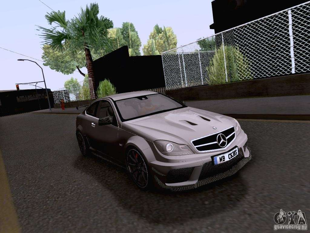 Mercedes benz c63 amg coupe black series for gta san andreas for Mercedes benz c63 amg