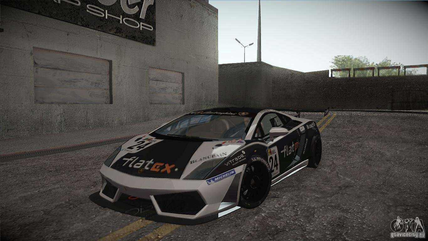 Lamborghini Gallardo LP560 4 GT3 For GTA San Andreas Side View