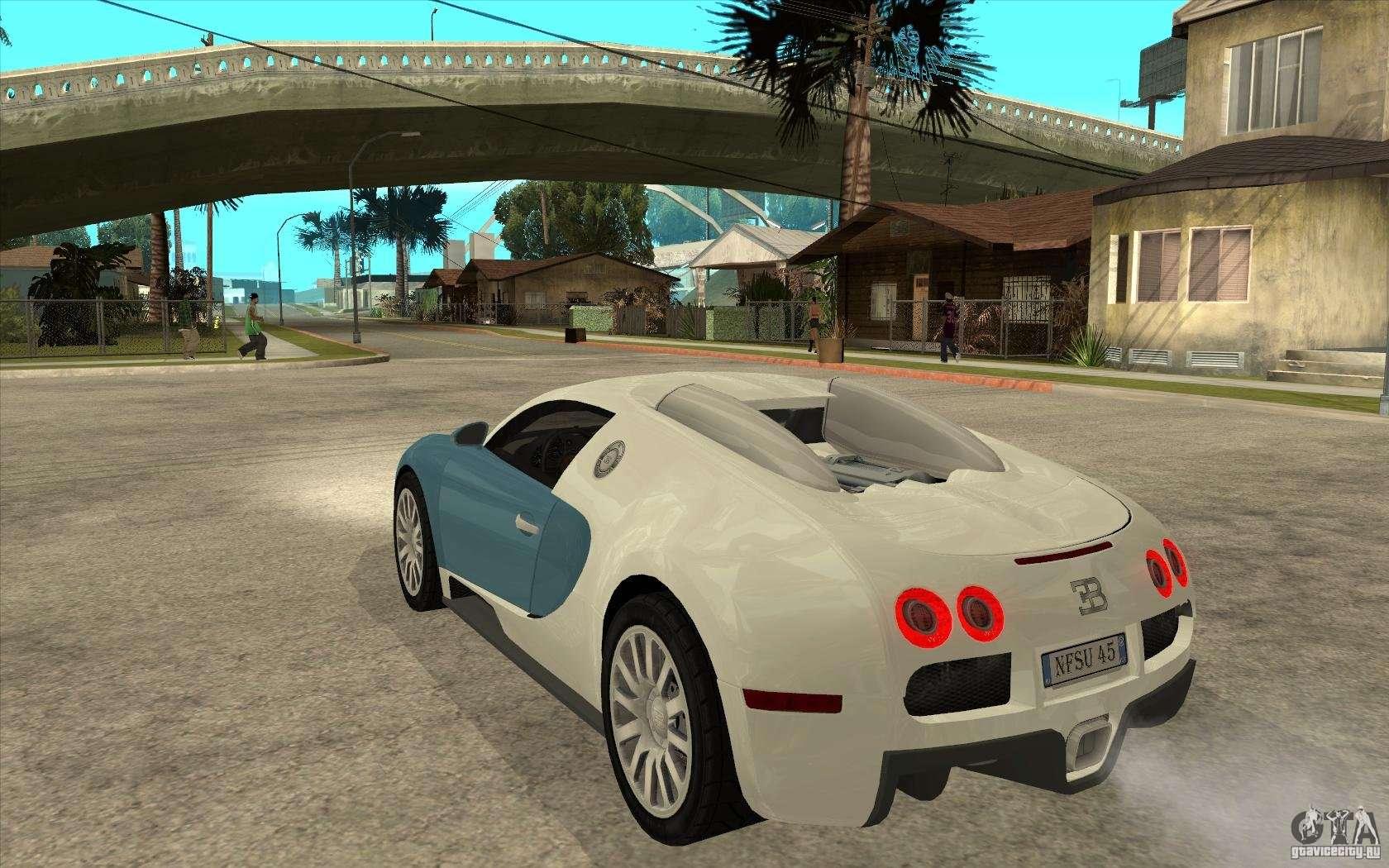 Bugatti Veyron Final For GTA San Andreas Back Left View