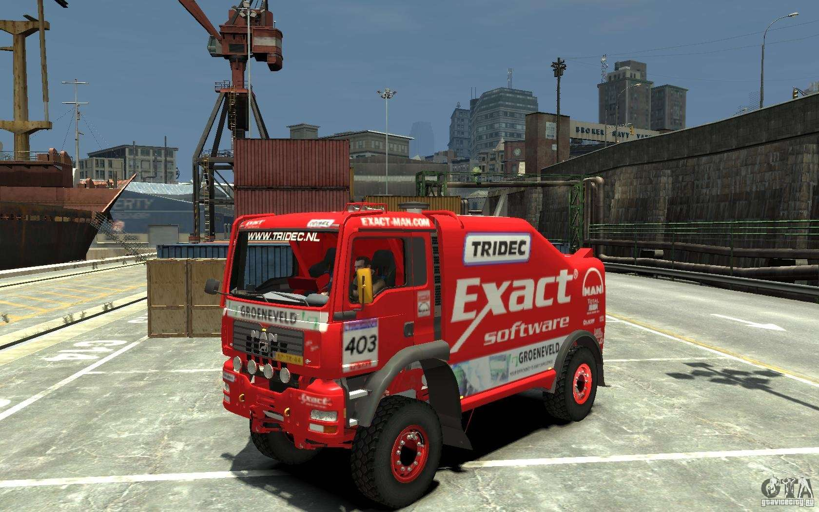 man tga rally truck for gta 4