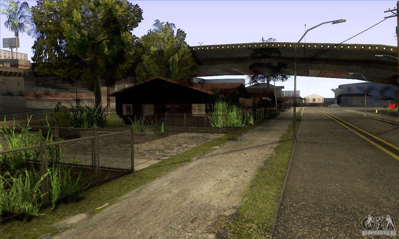 Grove street retextured for gta san andreas for Grove house