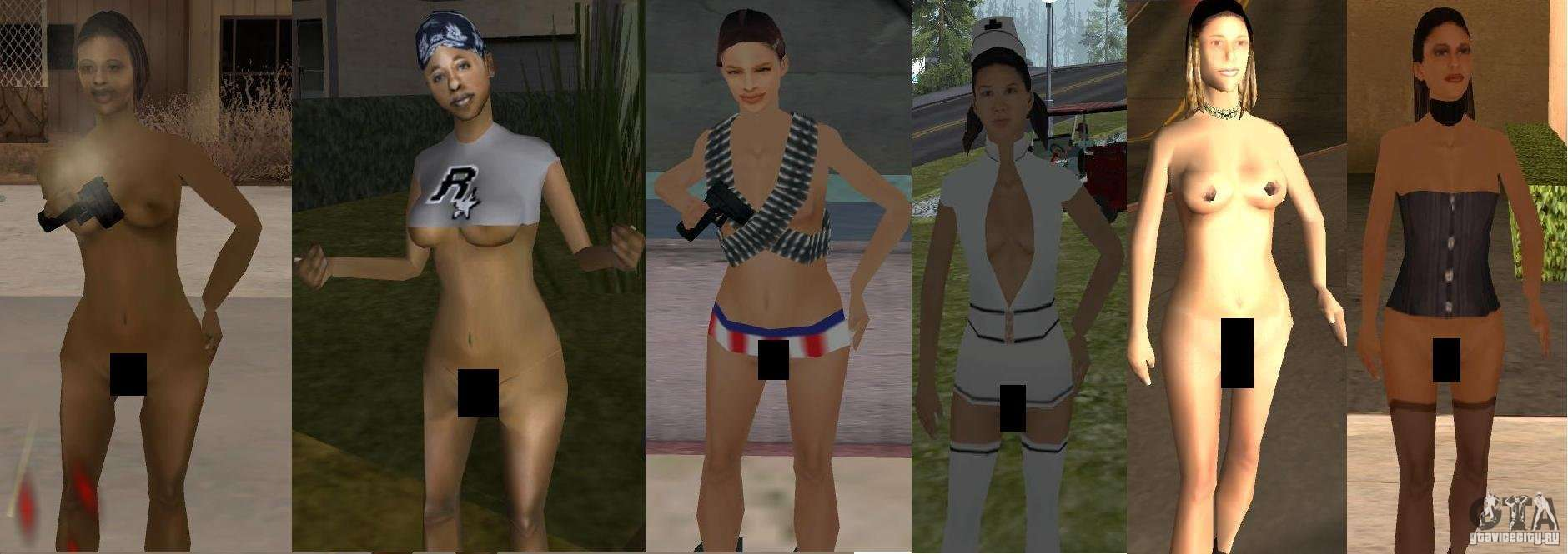 Gta san andreas sexiest clothes compared to most unsexy clothes according to game value