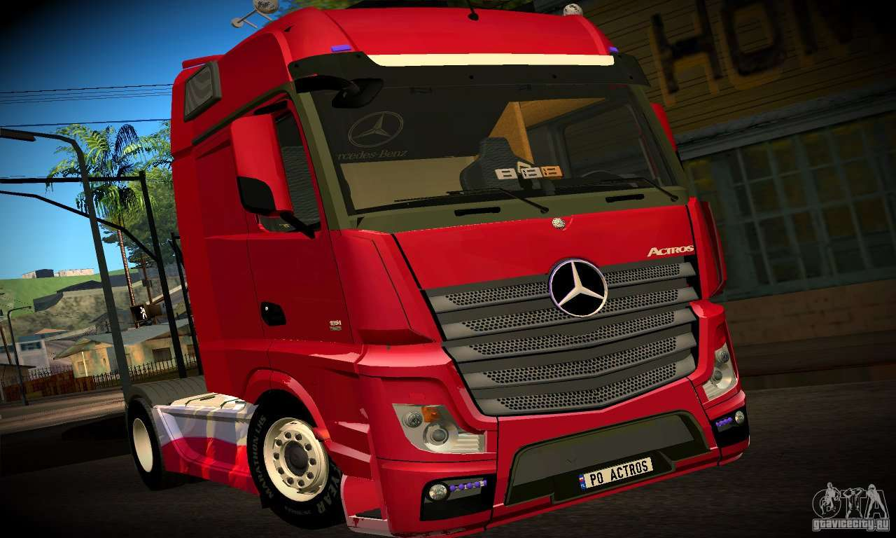 mercedes benz actros 2012 for gta san andreas. Black Bedroom Furniture Sets. Home Design Ideas