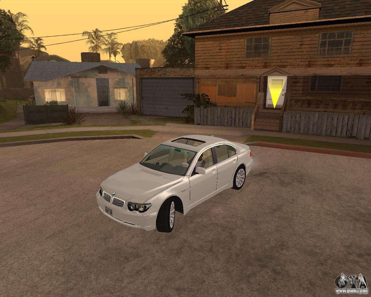 BMW 760I 2002 for GTA San Andreas