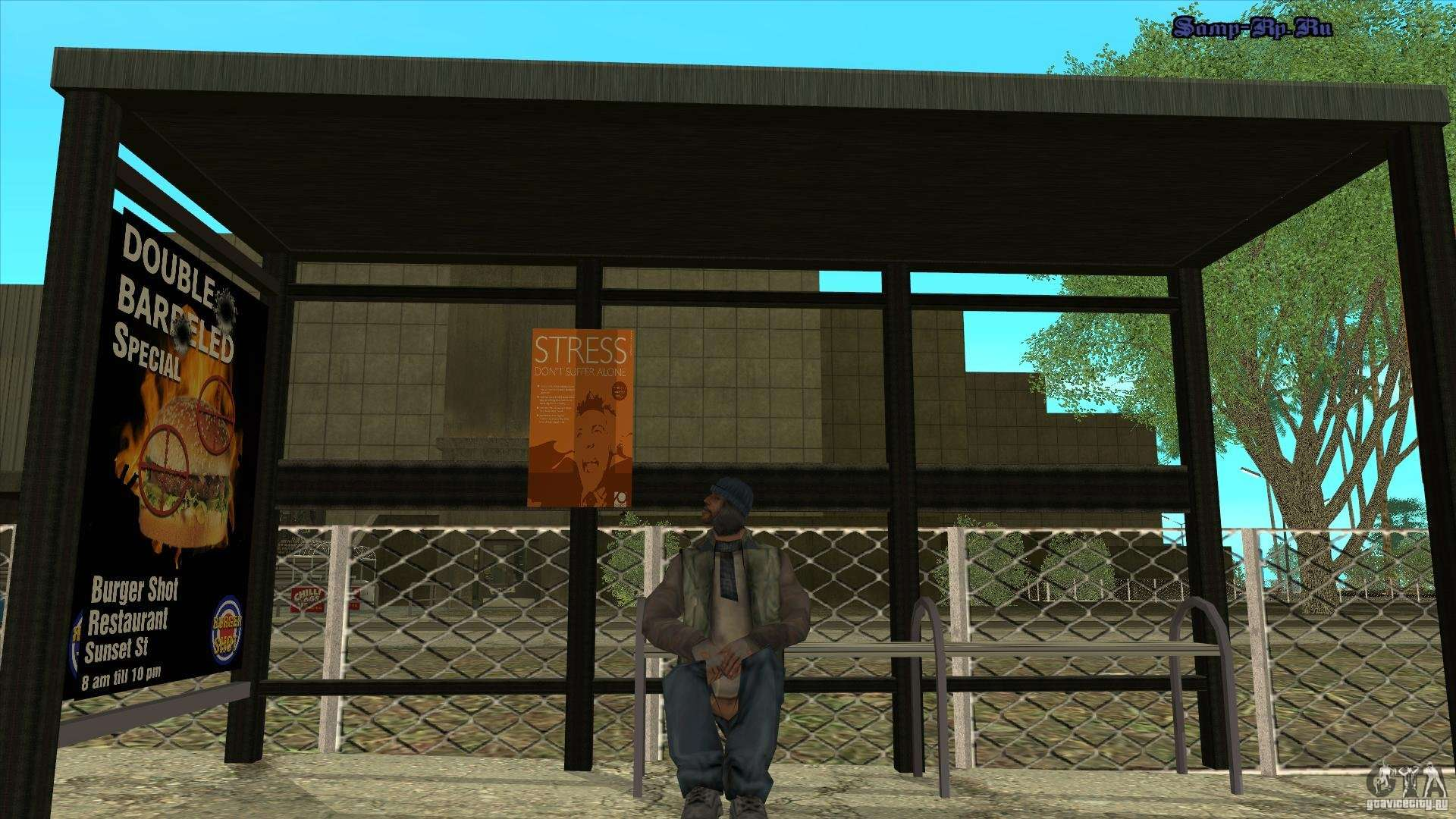 bus stops in hd for gta san andreas