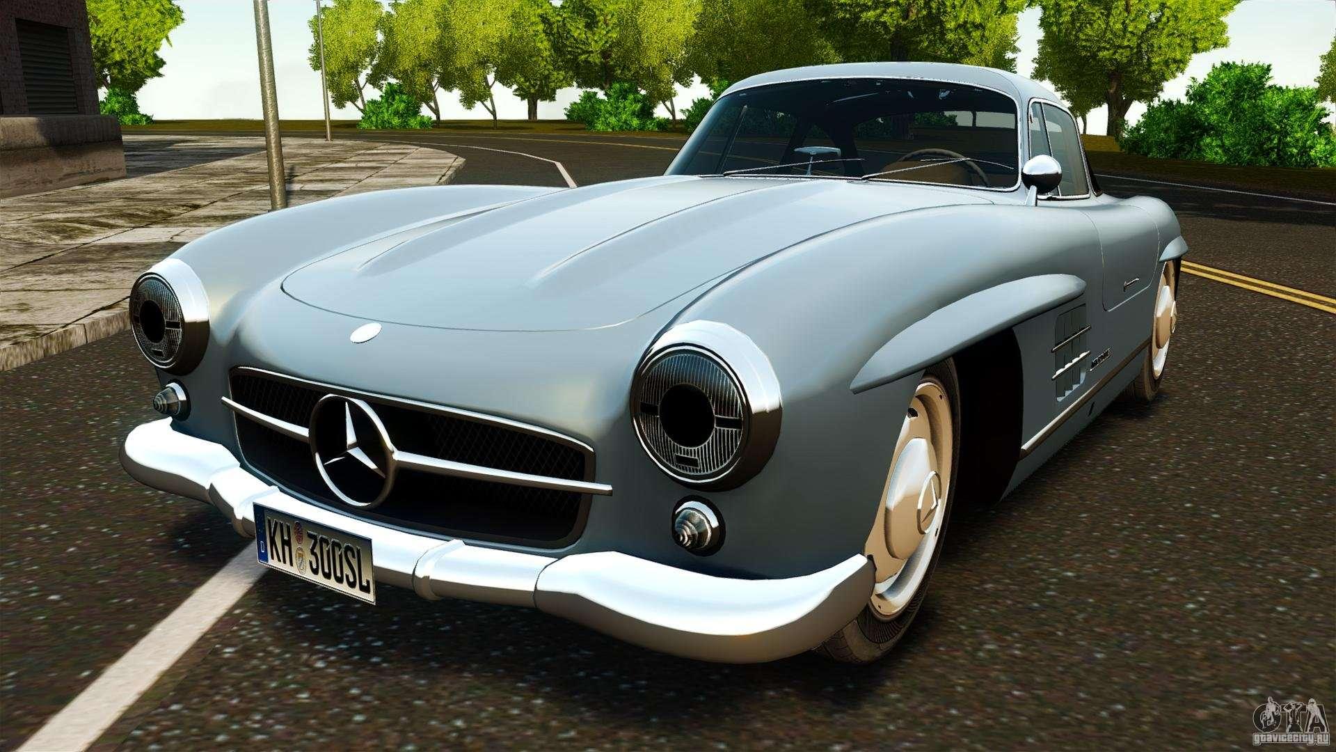 Mercedes benz 300 sl gullwing 1954 v2 0 for gta 4 for Mercedes benz sl 300
