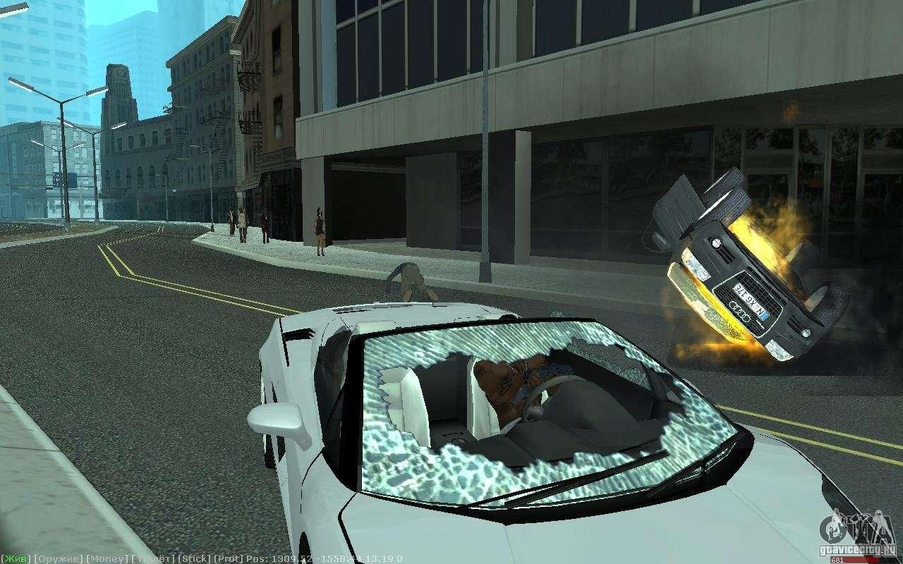 Gta Sa Realistic Car Crash Mod