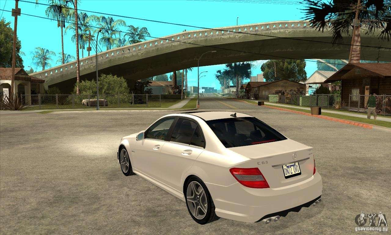 Mercedes benz c63 amg 2010 for gta san andreas for Mercedes benz mods
