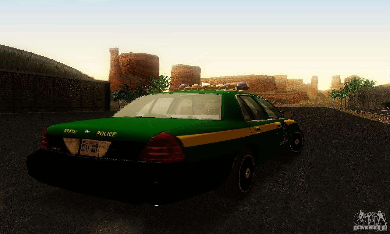 Ford Crown Victoria Vermont Police для GTA San Andreas вид слева.