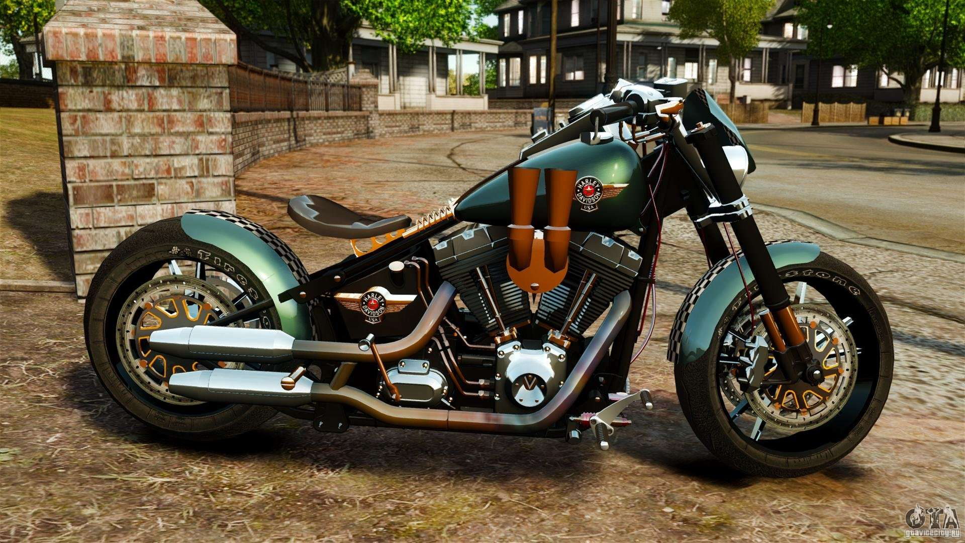 harley davidson fat boy lo racing bobber for gta 4. Black Bedroom Furniture Sets. Home Design Ideas
