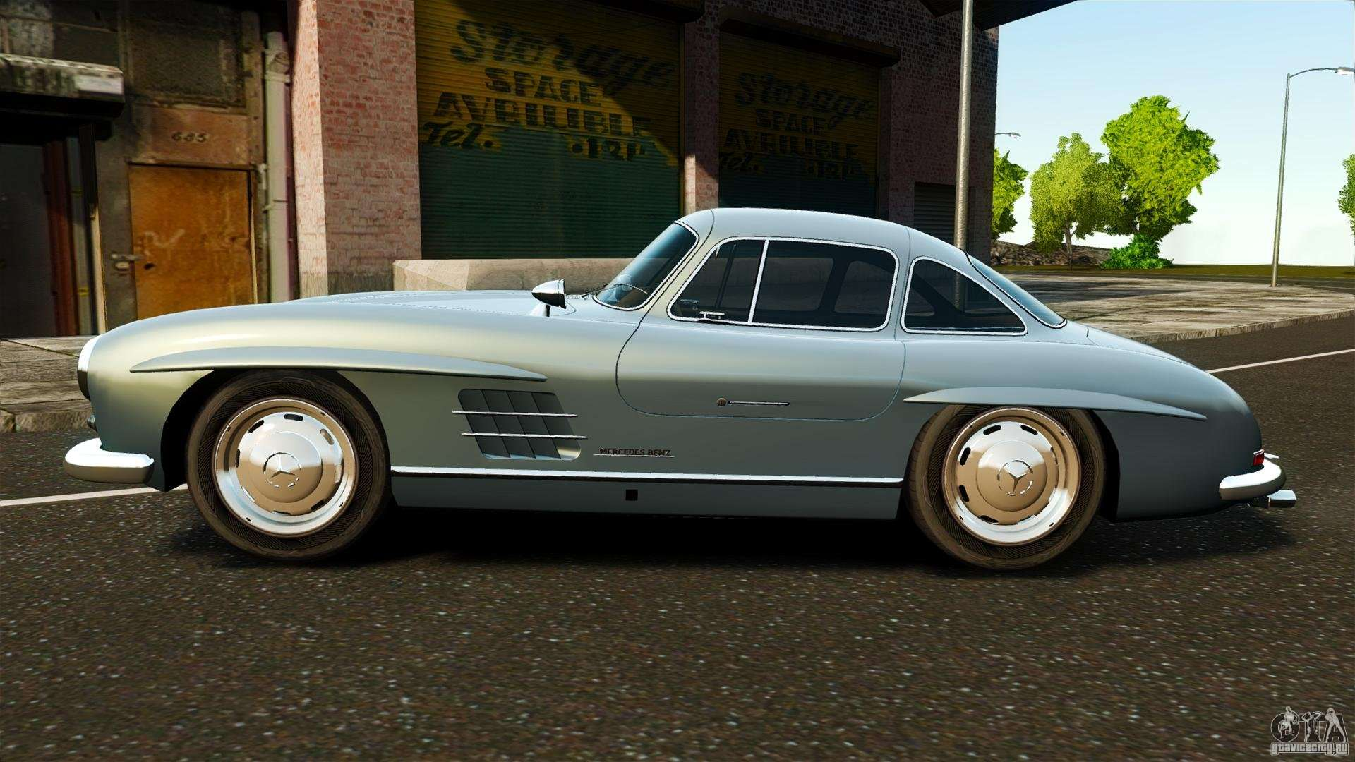 mercedes benz 300 sl gullwing 1954 v2 0 for gta 4. Black Bedroom Furniture Sets. Home Design Ideas