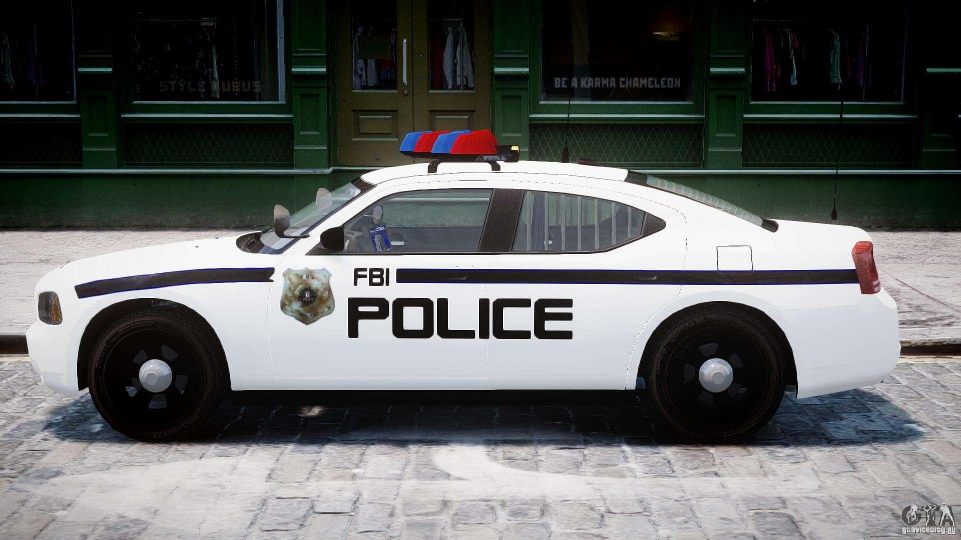 Dodge Charger Fbi Police For Gta 4