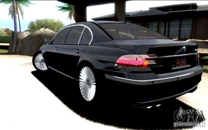 BMW 760Li E66 SE For GTA San Andreas Inner View