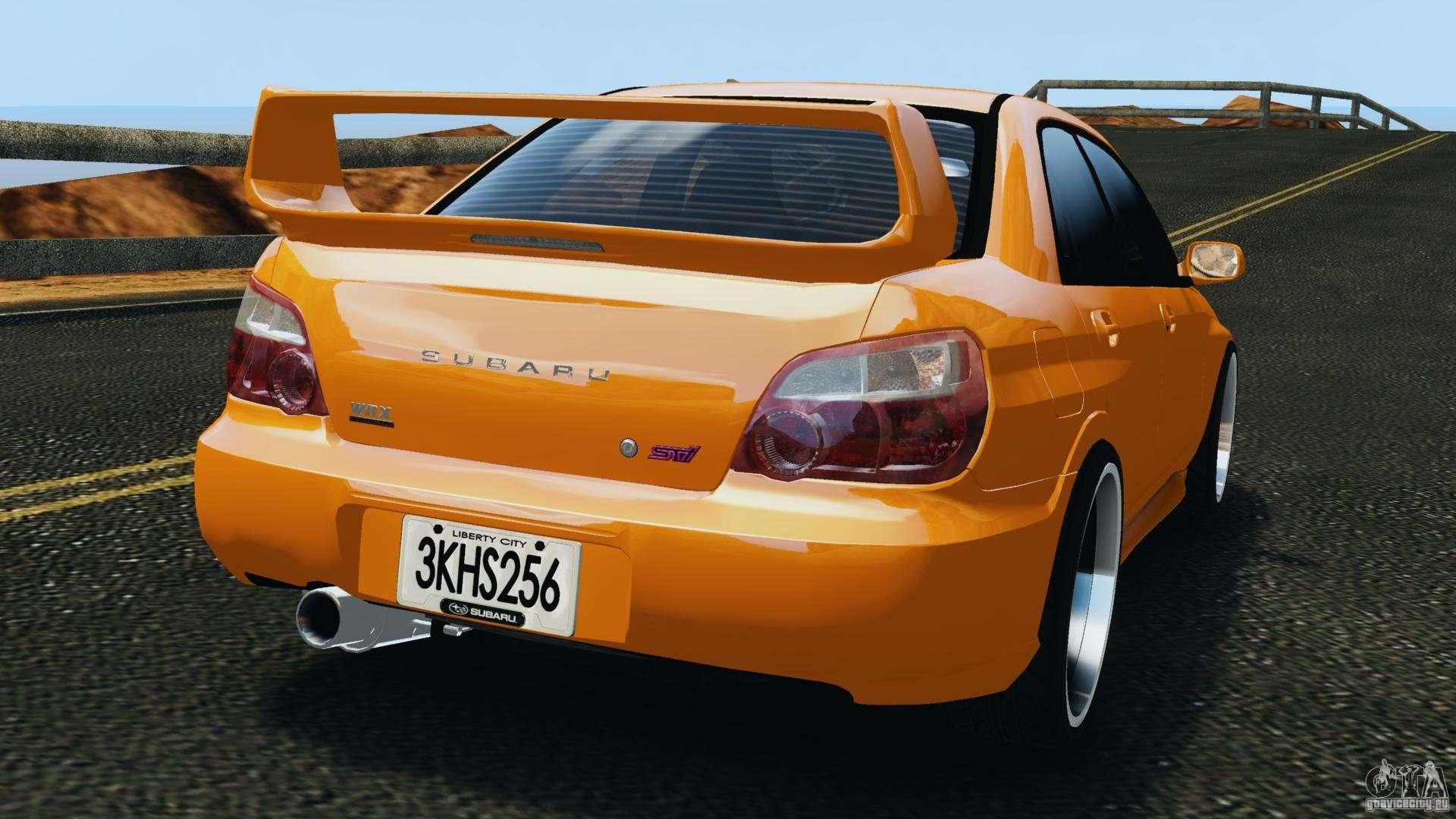 Subaru Impreza Wrx Sti 2005 For Gta 4
