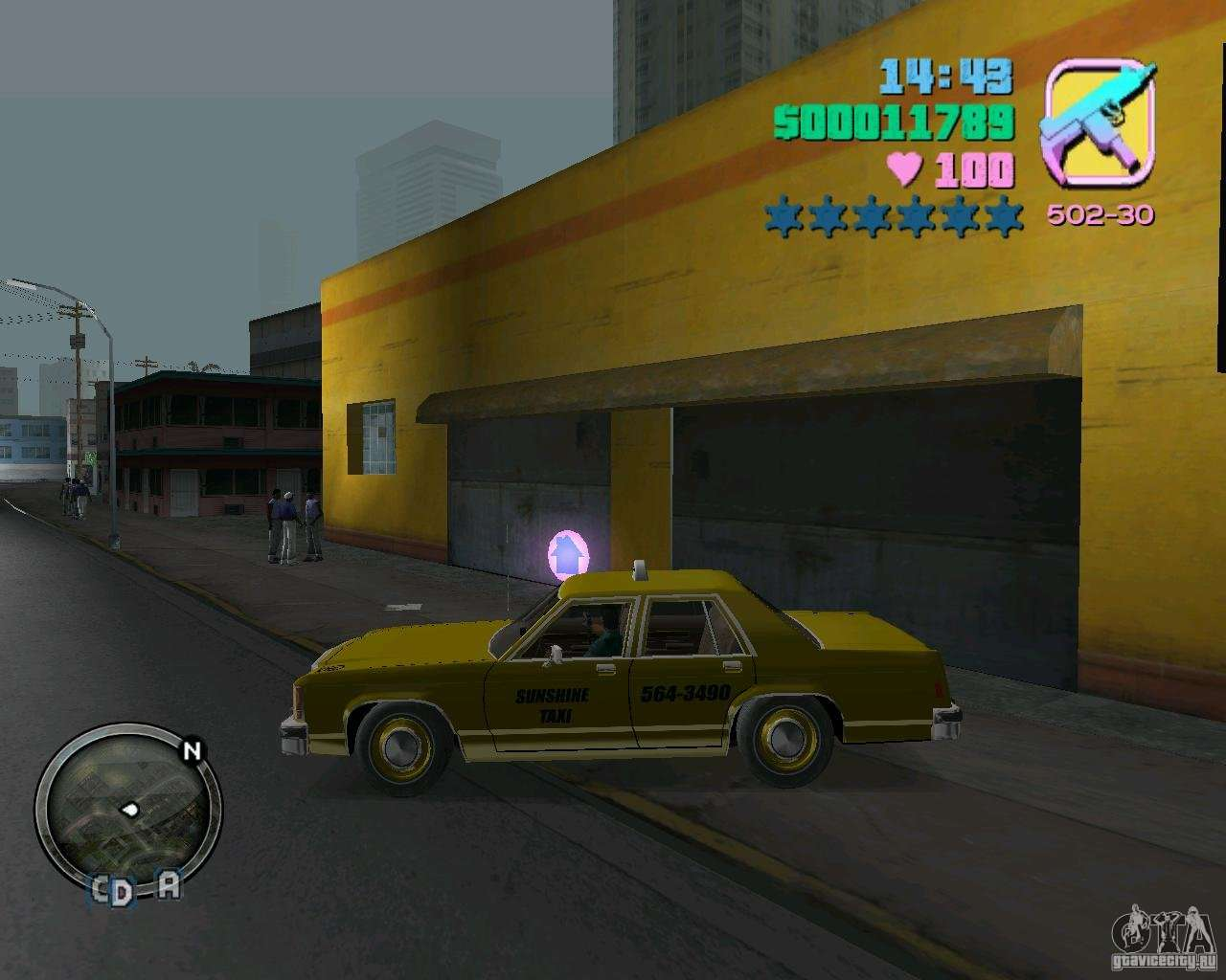 Ford Crown Victoria Ltd 1985 Taxi For Gta Vice City 1980 Back Left View