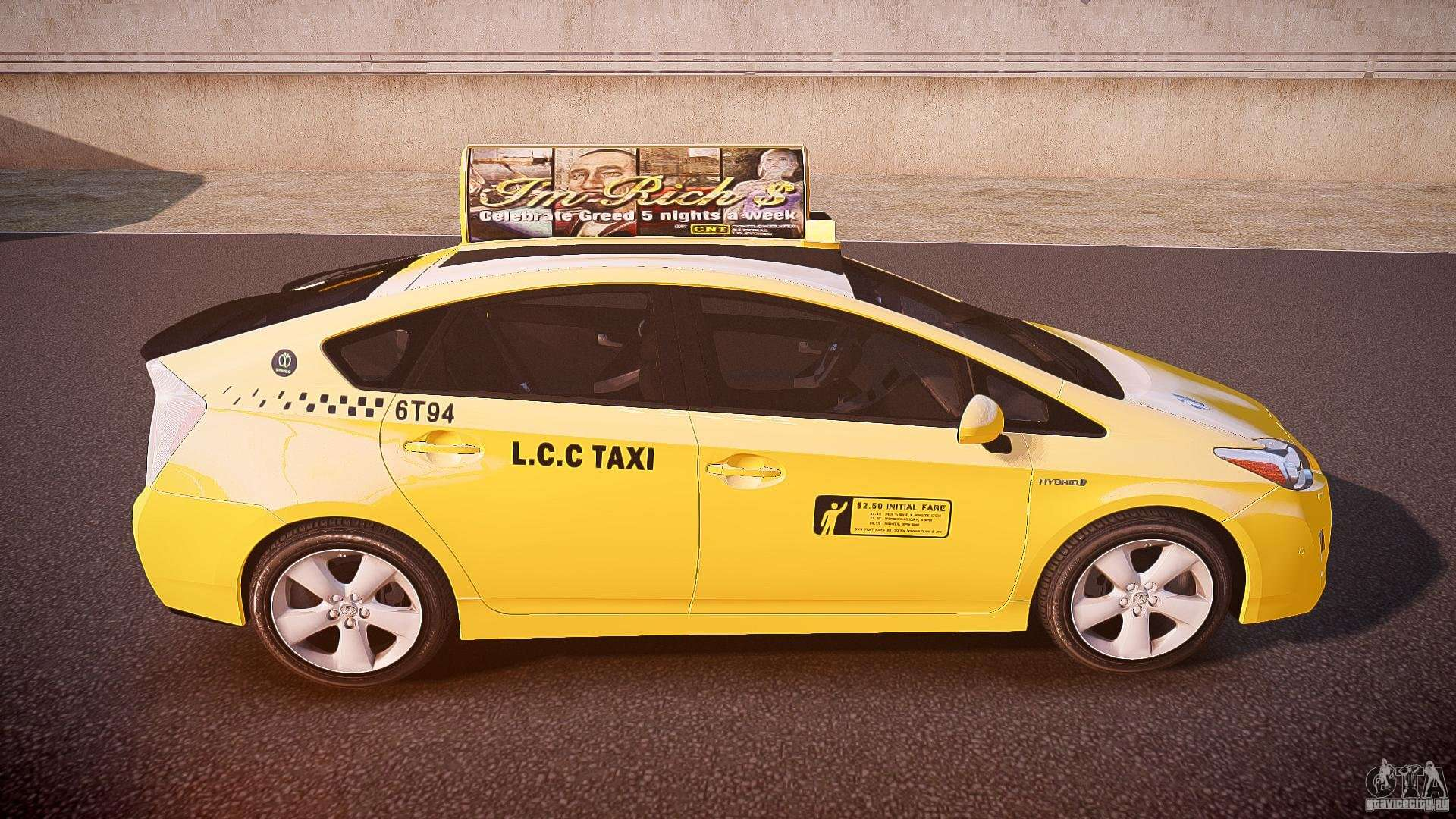 toyota prius lcc taxi 2011 for gta 4. Black Bedroom Furniture Sets. Home Design Ideas